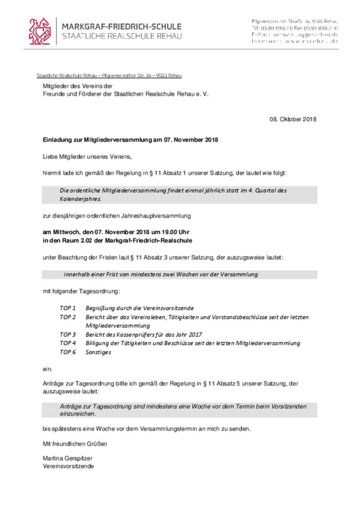 News + Termine - Markgraf-Friedrich-Schule Staatliche Realschule Rehau