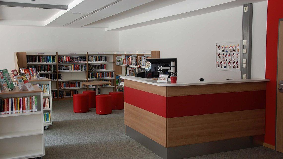 zu sehen ist die Bücherei