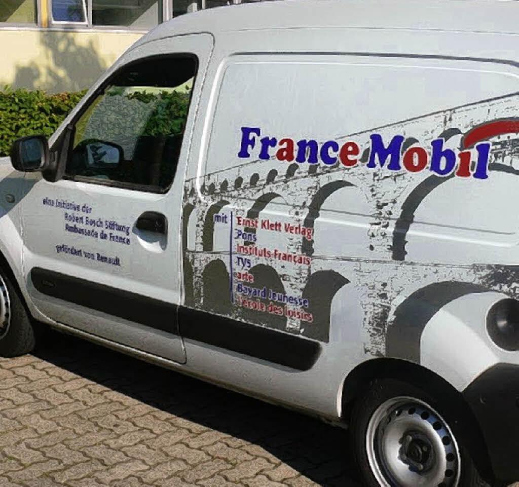 Ça va? – Ça va bien! Das France Mobil an unserer Schule!