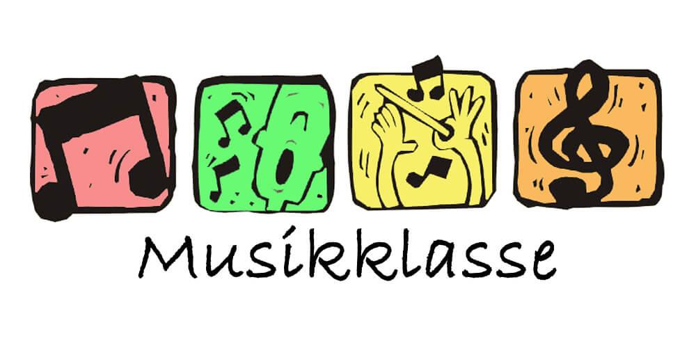 Das Bild zeigt das Logo der Musikklasse